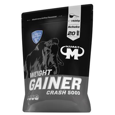 WEIGHT GAINER CRASH 5000 - SCHOKO - 1400 G BEUTEL